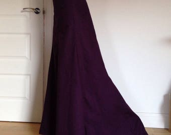 Late Victorian Edwardian style (early 1900s) ladies Skirt, maxi full length trumpet skirt, with fish tail, trains, sizes 4-30