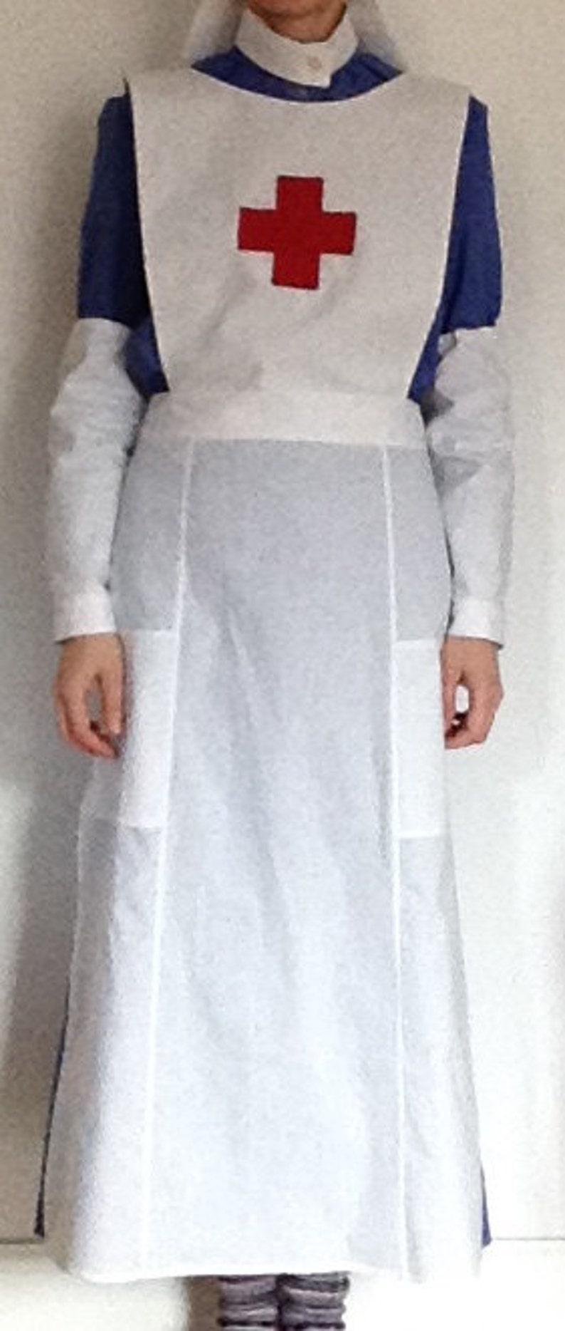 VAD uniforme stile infermiere Handmade WW1 WWI storico Costume  a559e90ae54d