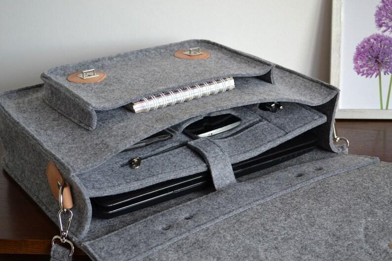 MESSENGER BAG Felt Cross Body Bag Messenger Bag Laptop Bag 15- Inch Custom Size Laptop Bag \u2013 Macbook Pro 15-inch Bag