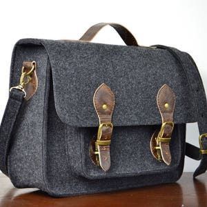 Custom Size  Laptop Bag MACBOOK PRO 13-inch BAG Felt Crossbody Bag Messenger Bag Felt Satchel 13-inch Laptop Bag