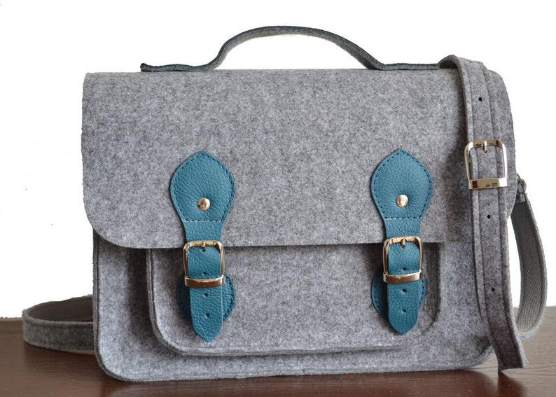 MESSENGER Bag Felt Laptop Bag LAPTOP BAG 13-inch Felt Messenger Bag Felt Crossbody Bag Felt Purse Felt Office Bag