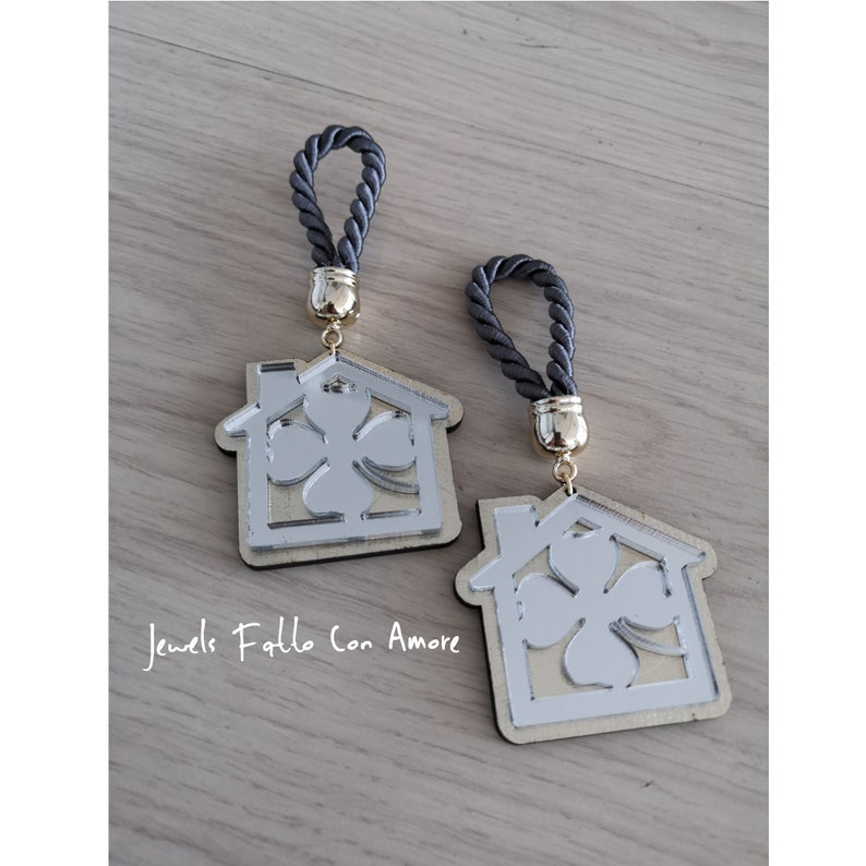 Home decor gift gift for home home clover good luck charm gift gold silver home clover charm,home ornament,good luck gift for protection