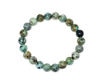 Men's bracelet, women's bracelet made with African Turquoise, mens beaded bracelet, bracelet, womens bracelet, bracelets, beaded bracelet