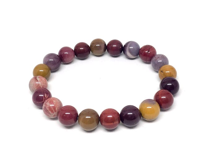 Beautiful Mookaite beaded bracelet | Mookaite Bracelet for her | 10mm Mookaite women's bracelet