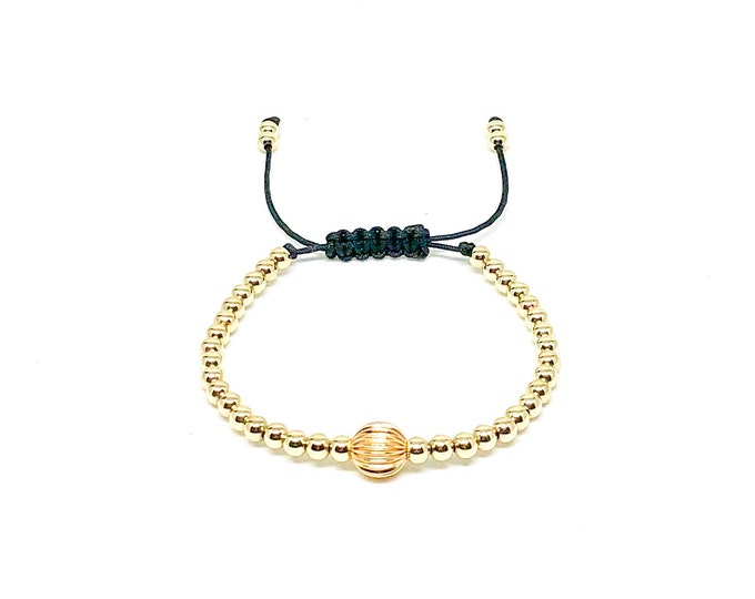 Women's bracelet with 14k gold filled beads.