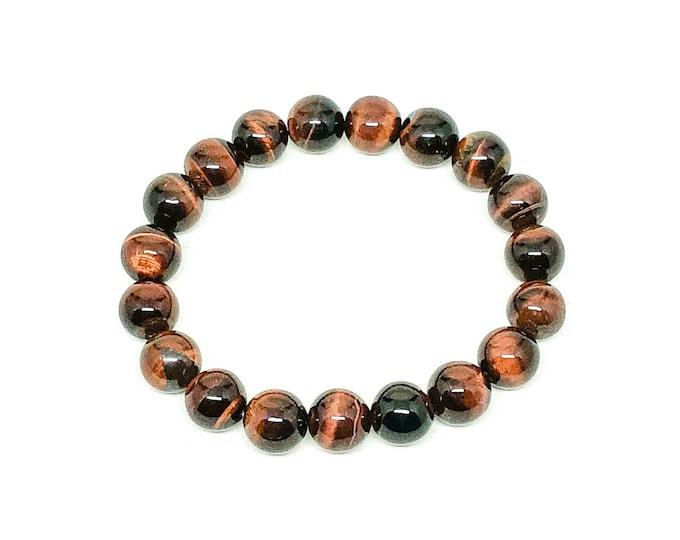 Men's bracelet with Red Tiger Eye, mens beaded bracelet, handmade bracelet, mens bracelet, tiger eye bracelet, beaded bracelet, bracelet
