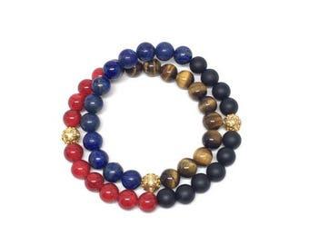 Beautiful wrap-around men's beaded bracelet, mens beaded bracelet, mens bracelet, bracelets, mens wrap-around, bracelet