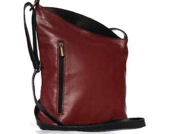 05f946c715 ... best price vera pelle italian soft leather angled shoulder cross body  handbag mulberry navy 9b133 73ec6