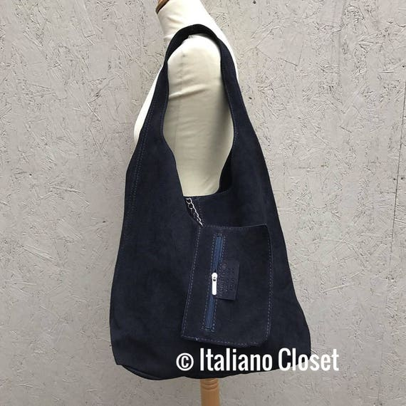be183b7236 Ladies Real Italian Suede Leather Large Slouch Hobo Shoulder Handbag ...