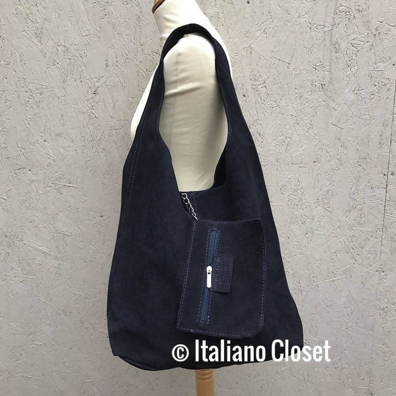 Ladies Real Italian Suede Leather Large Slouch Hobo Shoulder  5e4d9e9c92e34