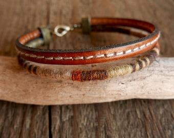 Mens Jewelry, Mens bracelet, Gift for men,  Valentine gift, Boyfriend gift, Leather bracelet, Gift for him, Husband gift, Boho bracelet gift