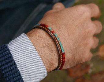 Men's Bracelet  Gift For Him, Bohemian Bracelet Mens Jewelry, Multicolor Braided Bracelet For Men's Gift, Boyfriend Gift Valentine Gift