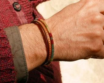 Mens bracelet, Leather bracelet, Gift for men, Mens jewelry, Boyfriend gift, Gift for him, Father day gift, Boho bracelet, Bracelet for men