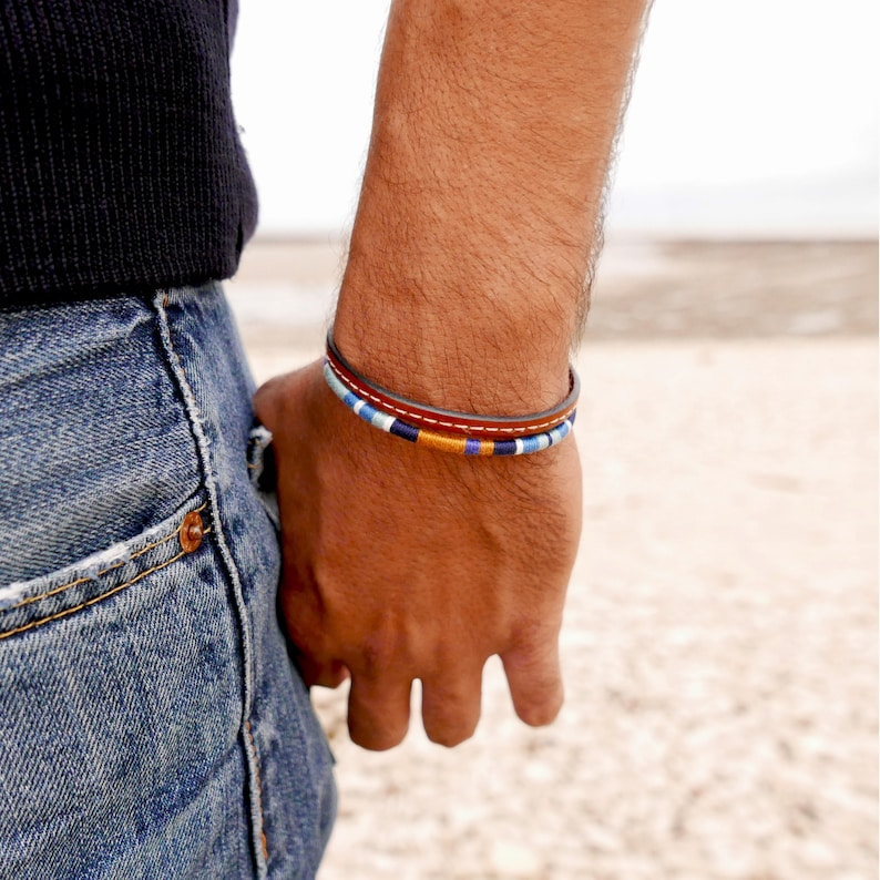 bracelet homme hipster cadeau pour lui bracelet manchette   etsy