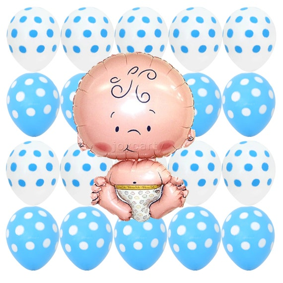 Cute Baby Kid Foil Helium Balloon Welcome New Baby Shower Christening Decoration