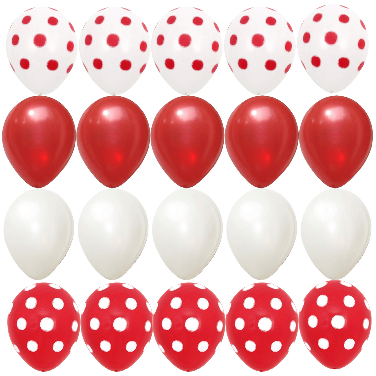 20pcs balloons Red White Polka dots Minnie Mouse Theme Baby Shower ...
