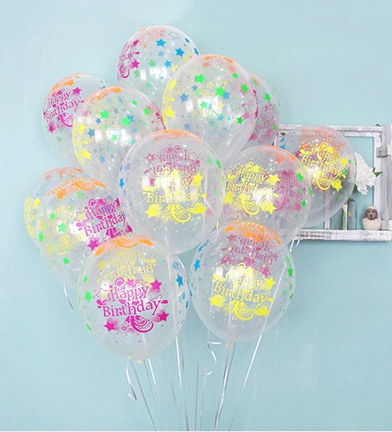 20X Confetti Latex BALLONS Filled Helium Balloon Birthday Party Wedding Decor