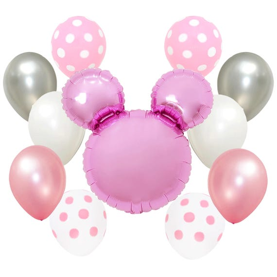 Pink Polka Dots Baby Shower Girls Happy Birthday Party Minnie Etsy