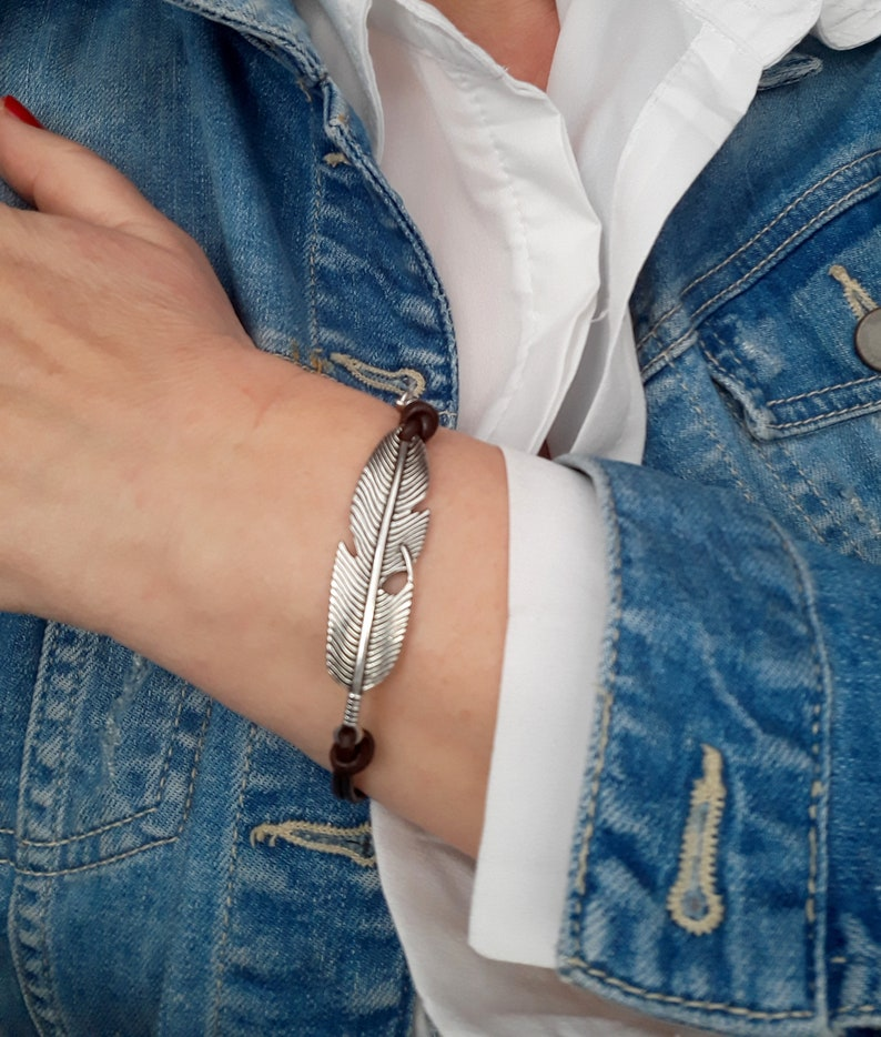 Boho Style Leather Charm Bracelet Women Jewellery Gift Ideas for Her