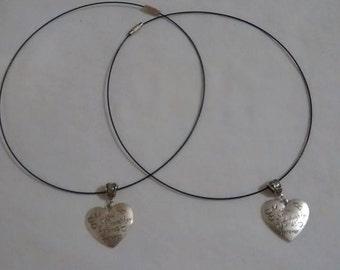 Mother/Daughter Friends Forever Necklace Set