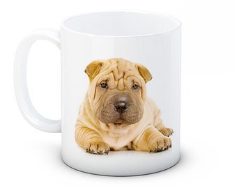 Shar Pei Dog Puppy - High Quality Ceramic Coffee or Tea Mug
