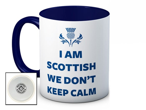 Keep Calm I/'m Scottish Mug Can Personalise Any Name Or Text Great Scotland Gift