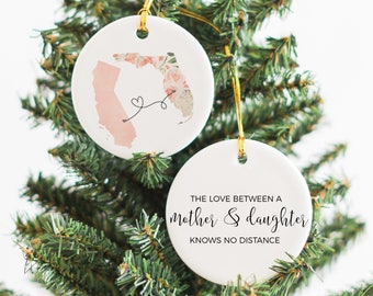 christmas gifts for mom moving away gift mom long distance gift mom gift mother daughter long distance ornament