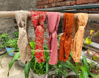 Women crossed turban, printed elastic hair bands, multi colored headband, summer wide headband, recycle silk band handmade