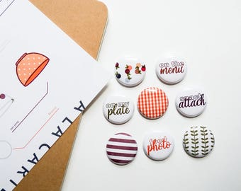 Food Notes - Mini Flair Set