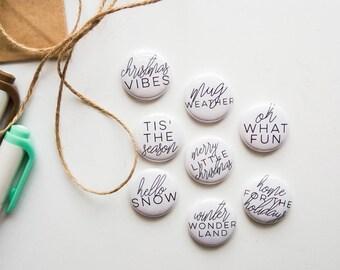 Jul Holiday - Christmas Phrases - Mini Flair Set