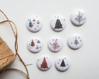 Jul Holiday - Christmas Trees - Mini Flair Set