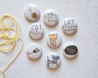 Cat Characters - Mini Flair Set