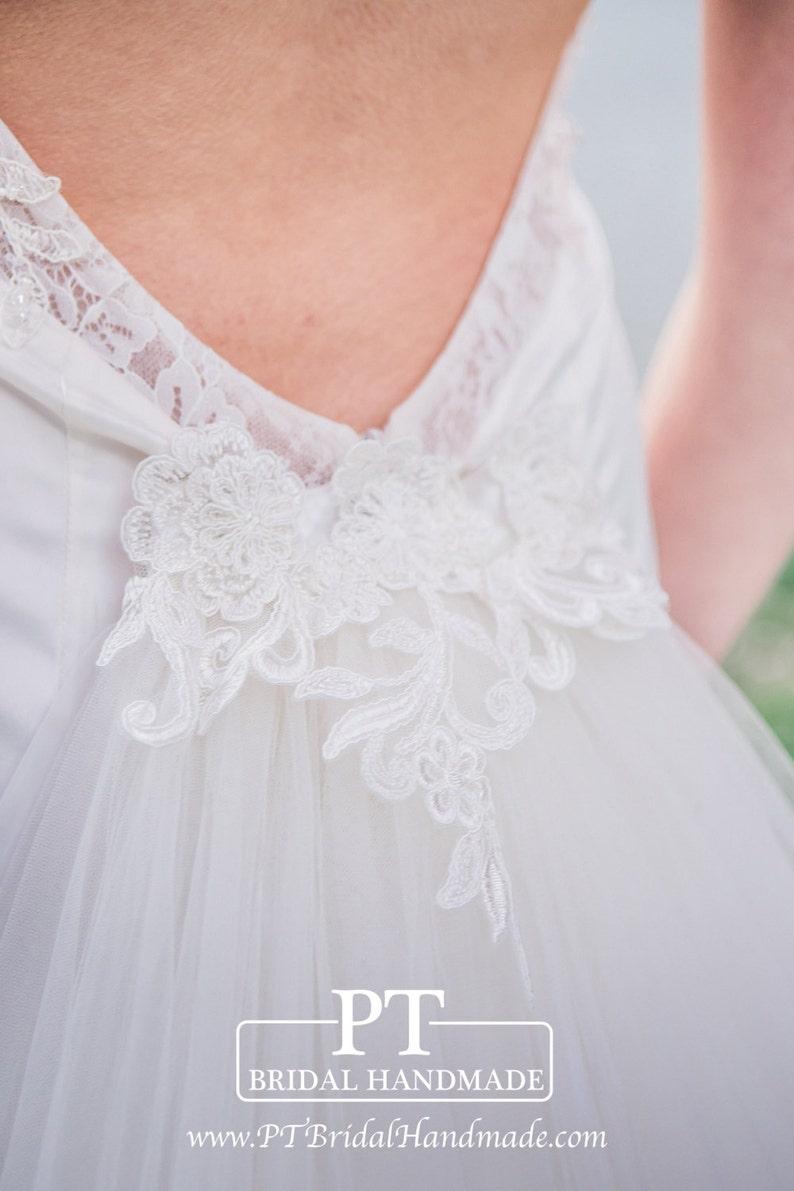 9f97a718a28 Abnehmbare Schleppe für Hochzeit Kleid abnehmbare Braut Zug