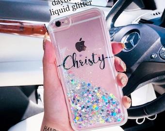 Floating Glitter Phone case Samsung galaxy s7 case Samsung galaxy s8 case galaxy s7 edge case Samsung galaxy s8 plus case iPhone 7 case