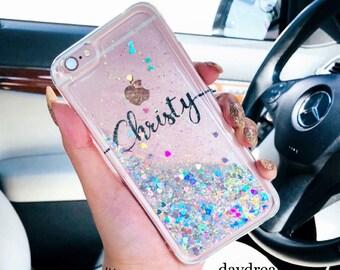 moving glitter Phone case iPhone 7 case iPhone 7 Plus case iPhone 6s case  iPhone 6s Plus case iPhone 8 case iPhone 8 Plus case iPhone x case 957bbb9181