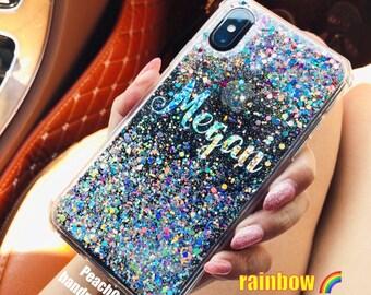 c43b8fca72263a Moving glitter Phone case Samsung Note 8 case, Note 9 case iPhone 6s case  iPhone 6 plus case iPhone 8 plus case iPhone x case iPhone Xs case