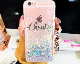 Liquid Glitter Phone case Samsung Note 8 case samsung Note 5 case iPhone 6 case iPhone 6 plus case iPhone 8 plus case iPhone x case