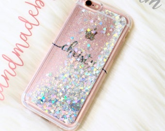 Floating moving Phone case iPhone 7 case iPhone 7 Plus case iPhone 6s case iPhone 6 plus case iPhone 8 case iPhone 8 Plus case iPhone x case