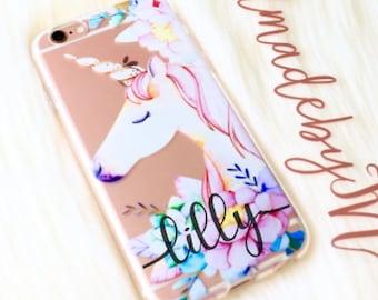 Flower Unicorn Phone case iPhone 7 case iPhone 7 Plus case iPhone 6s case iPhone 6s Plus case iPhone 8 case iPhone 8 Plus case iPhone x case