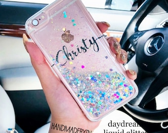 Liquid Glitter phone case iPhone XR case Google Pixel 2 xl | Etsy