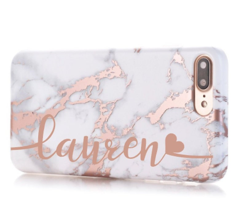 rose gold marble iphone 8 case