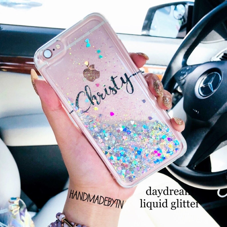 huge selection of 5ce0c 735a4 Floating glitter Phone case Phone case Samsung galaxy S10 Plus case, S10  case, S10 E case iPhone 7 case iPhone 7 Plus case iPhone XR case