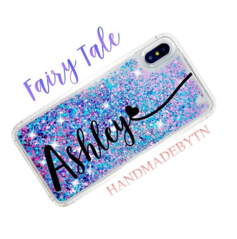 pretty nice 2e36a 50e26 Pink Blue Moving Glitter Phone case Samsung Note 9 case iPhone 6 case  iPhone 6s case iPhone 8 plus case iPhone xs case iPhone xs max case