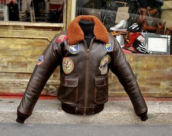 SCHOTT Aviator Leather jacket G1 Top Gun Original size M/L
