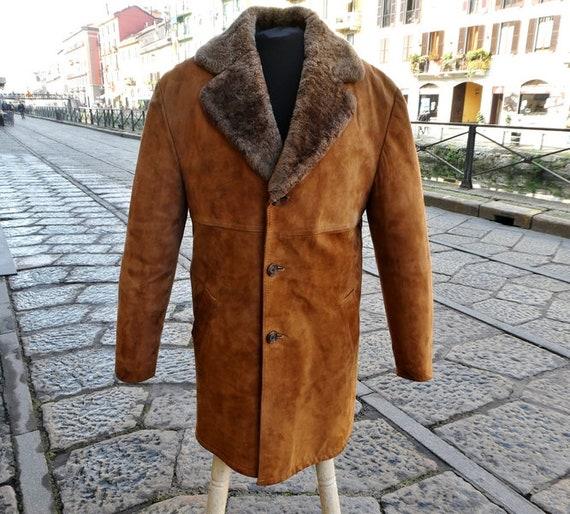 Original 70s vintage suede suede suede trench coat