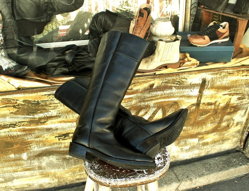 c795a90e72e0f Boots leather riding from horse cowboy high number 45 man