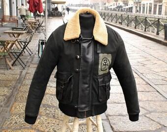 Aviator Leather Vest Jc De Castelbajac Original Size XL