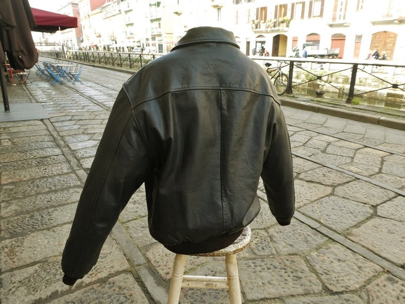 European XL Original Made in USA Levi/'s vintage American L-size aviator leather jacket