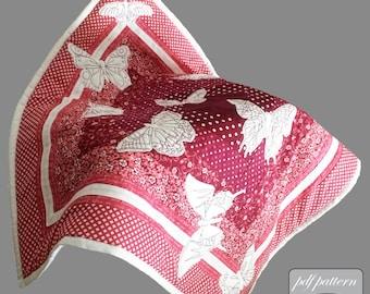 Baby quilt design pdf pattern and tutorial : Hypnotising butterflies