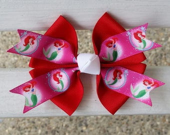Little Mermaid Hair Bow (4 inch)